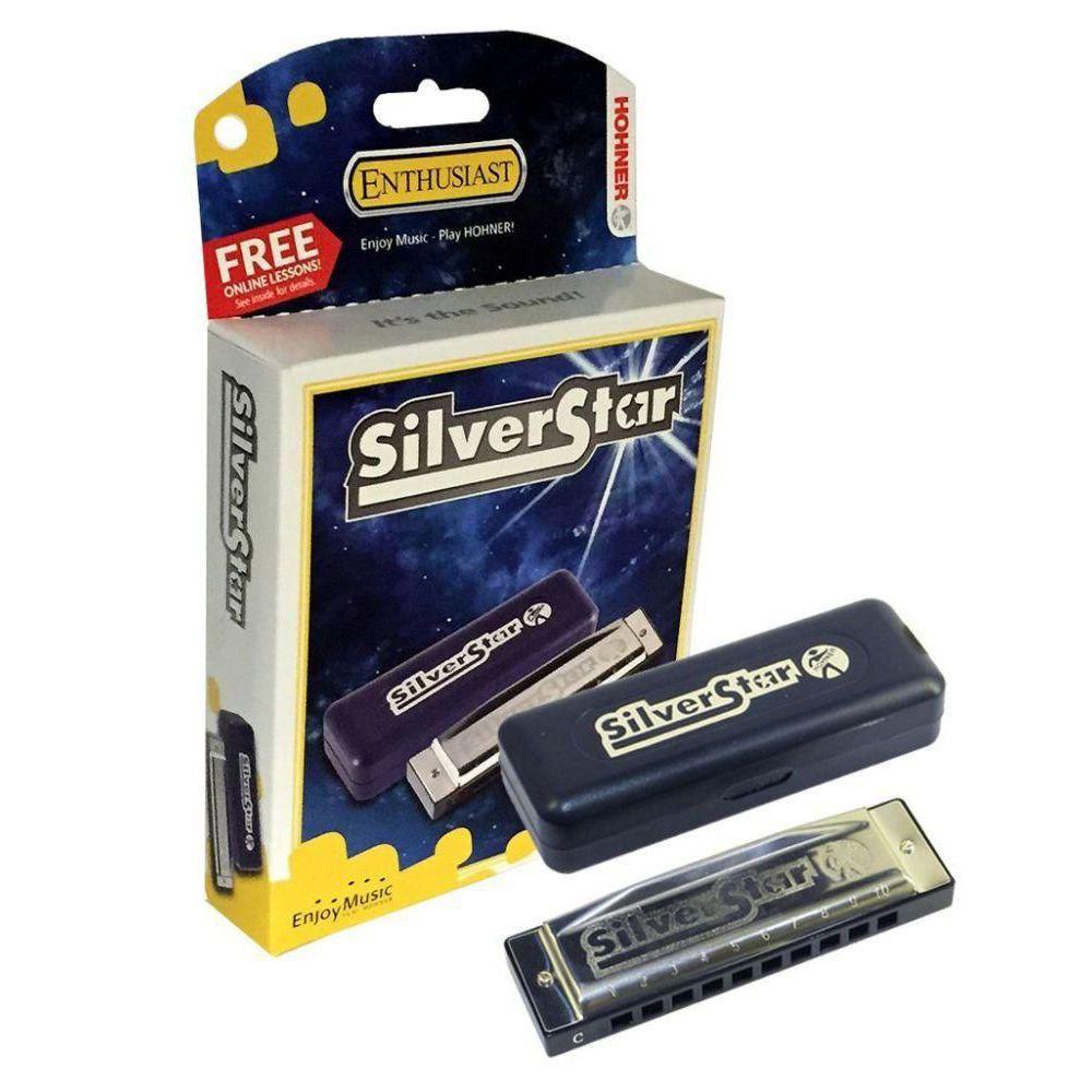Gaita Diatônica Hohner Silver Star 504/20 BB (Si Bemol)