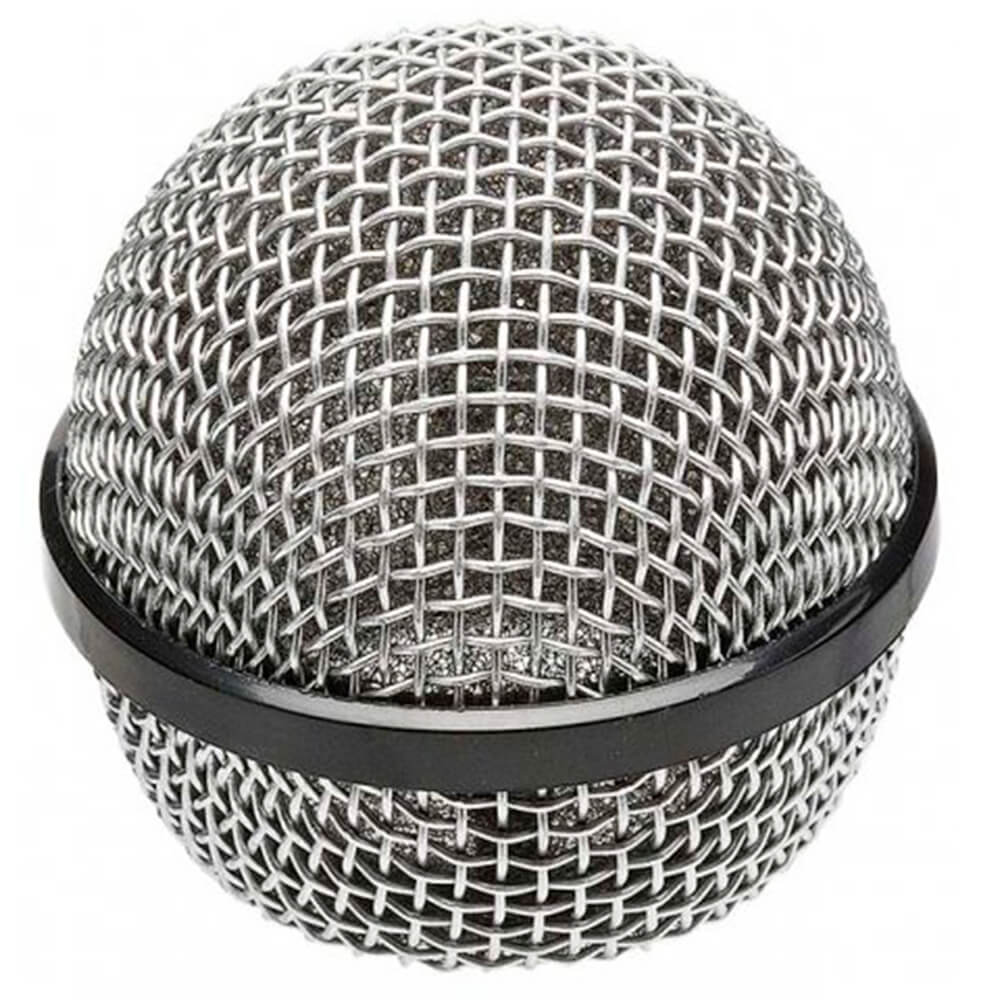 Globo Metálico MXT Prata Rosca 31mm para Microfone