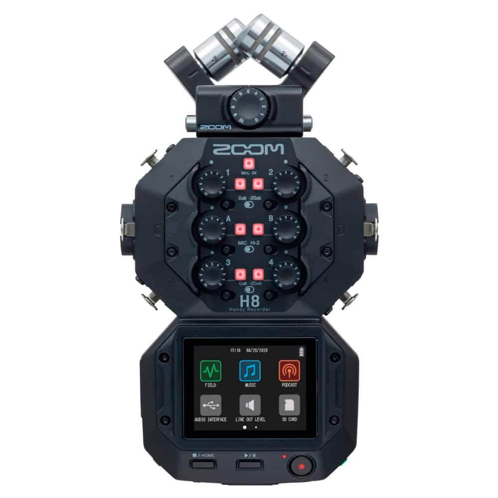 Gravador de Áudio Zoom H8 Handy Recorder Black
