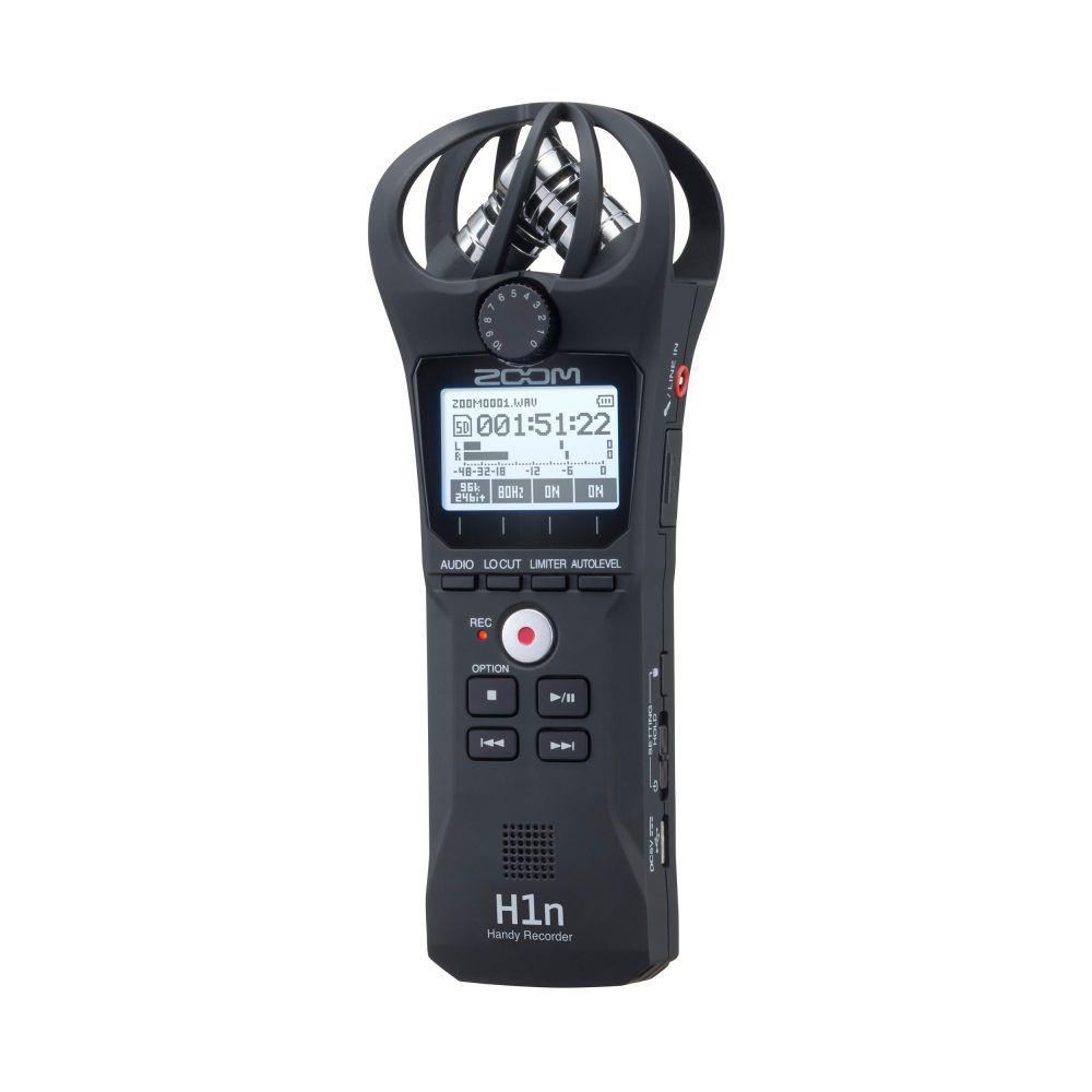 Gravador Digital de Áudio Zoom H1N Handy Recorder Black