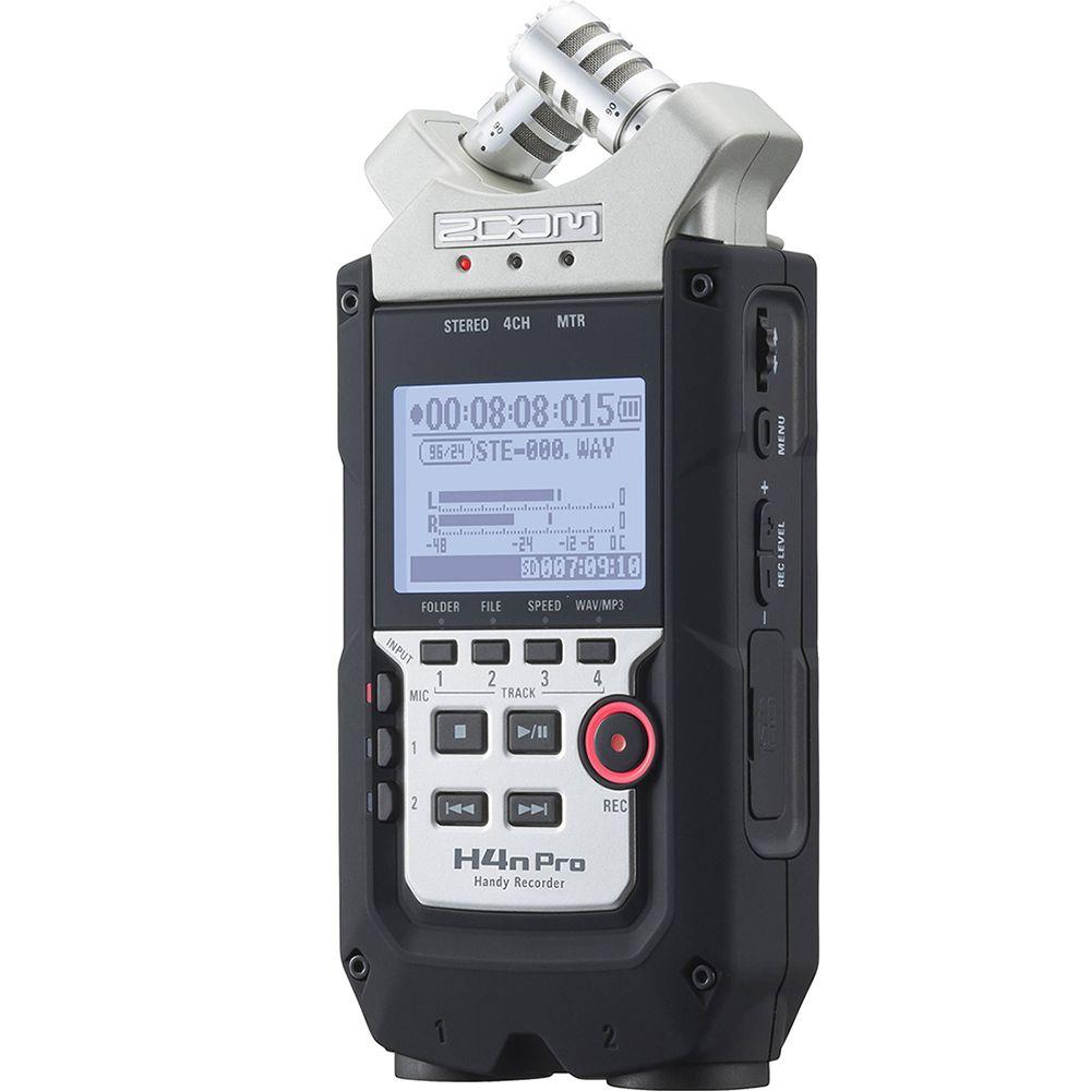 Gravador Digital Portátil Zoom H4n Pro Handy Recorder