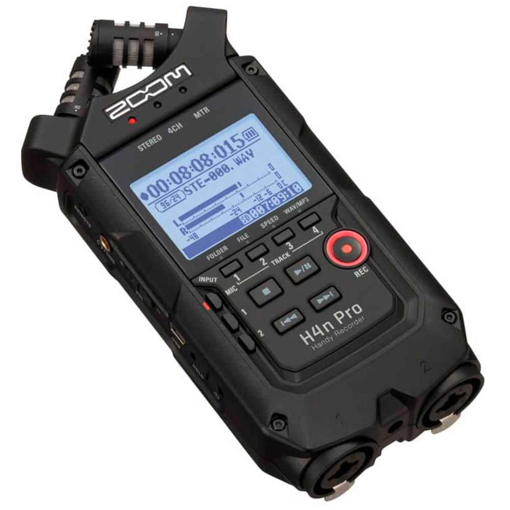 Gravador Digital Portátil Zoom H4n Pro Handy Recorder Black