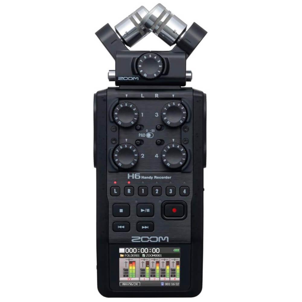 Gravador Digital Portátil Zoom H6 Handy Recorder Black