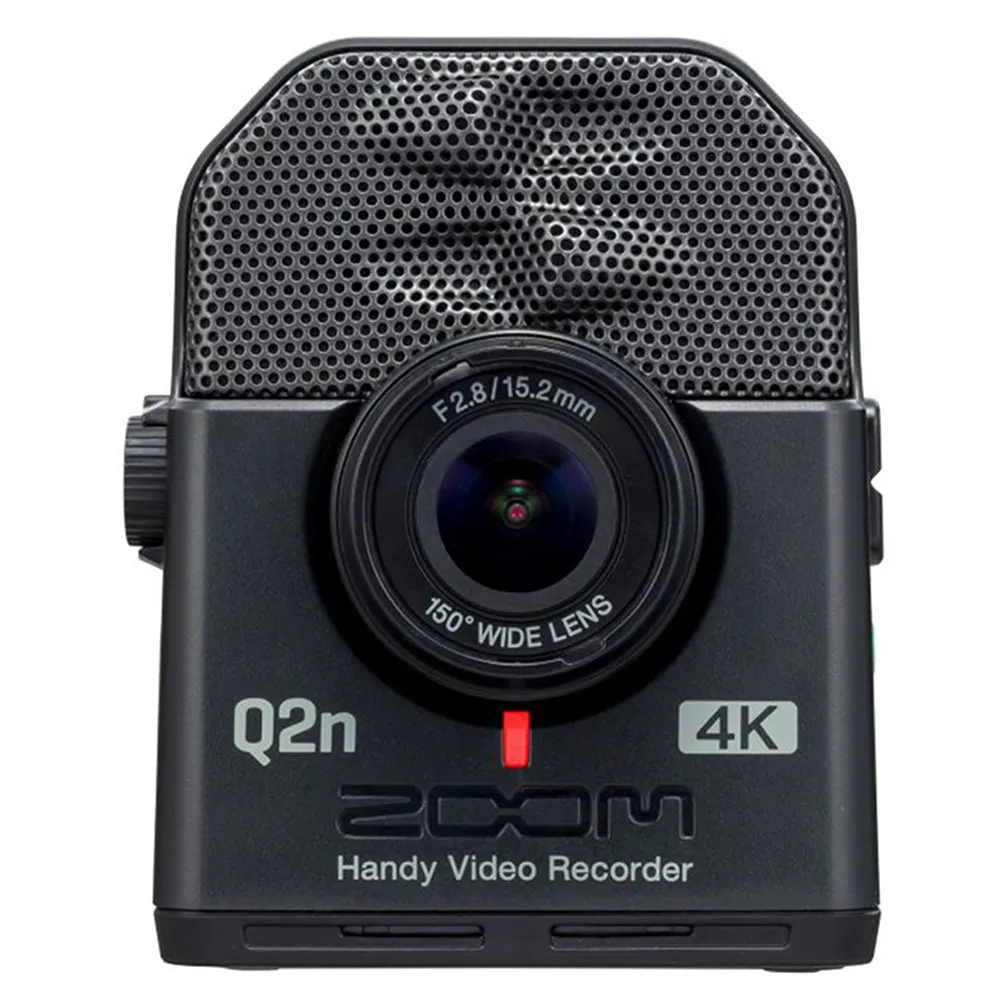 Gravador Digital Zoom Q2n-4K Handy Recorder Áudio e Vídeo 4K