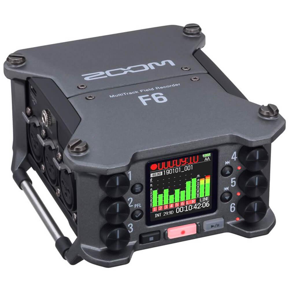 Gravador Multi-Faixa Zoom F6 Field Recorder 6 Canais