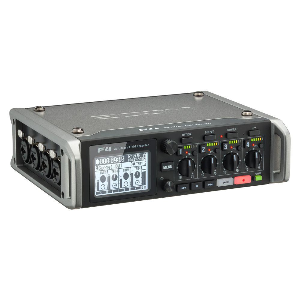 Gravador Multitrack Zoom F4 USB e Cartão SD 6 Canais
