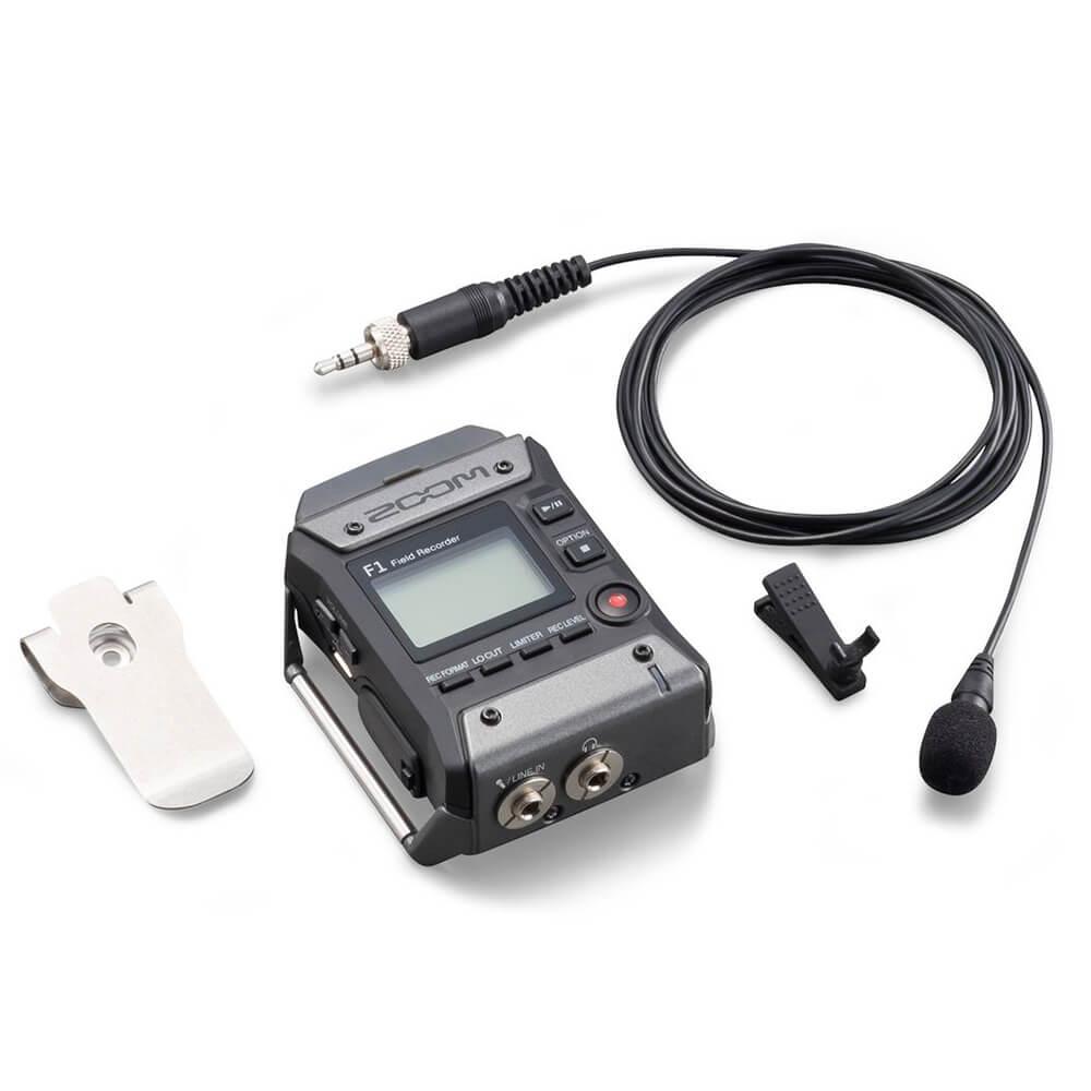 Gravador Zoom F1-LP Field Recorder com Microfone Lavalier