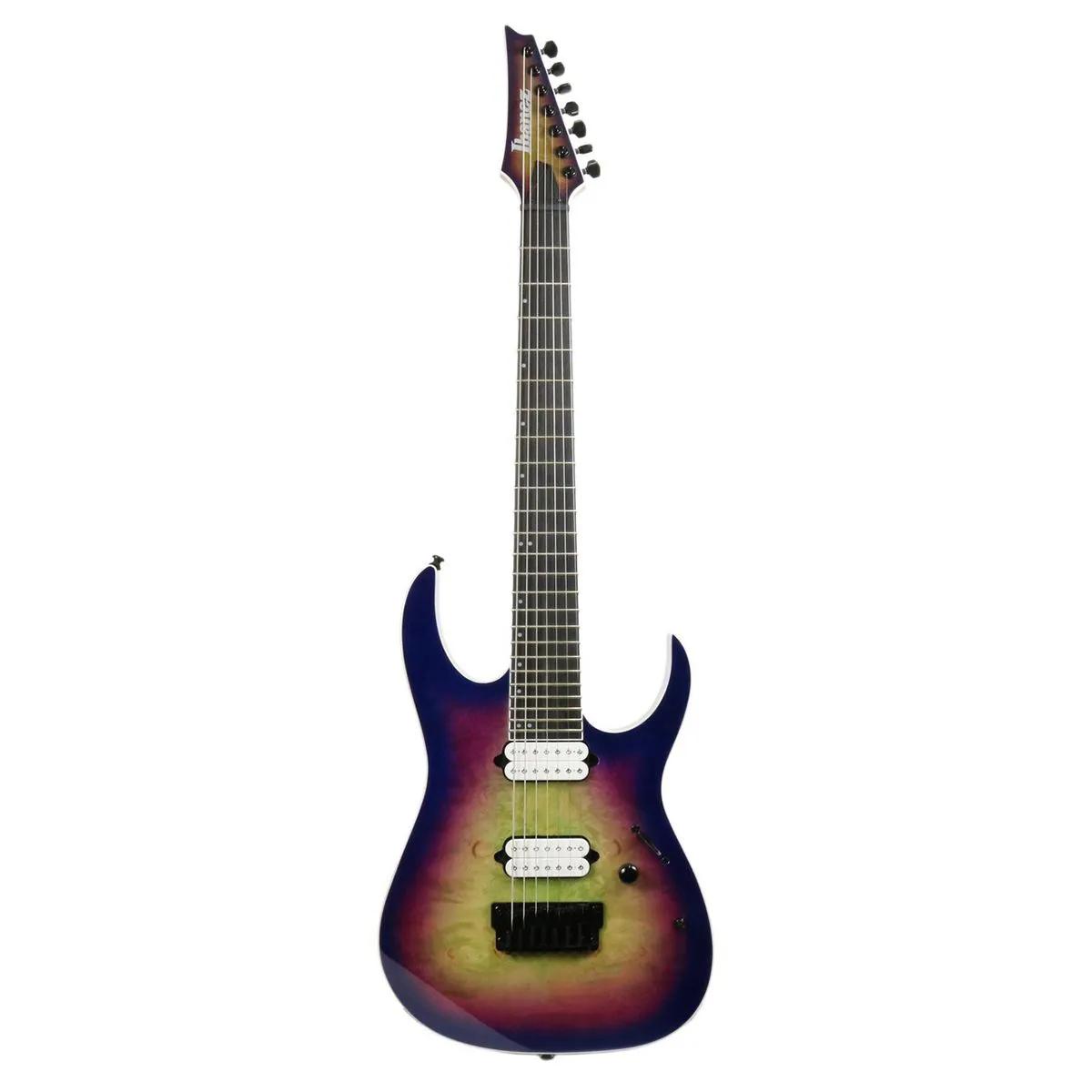 Guitarra 7 Cordas Ibanez RGIX7 Iron Label Northern Lights burst