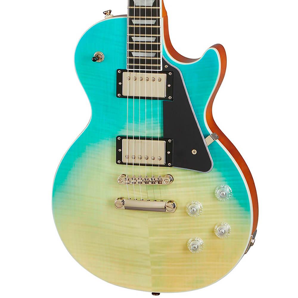 Guitarra Epiphone Les Paul Modern Figured Caribbean Blue Fade
