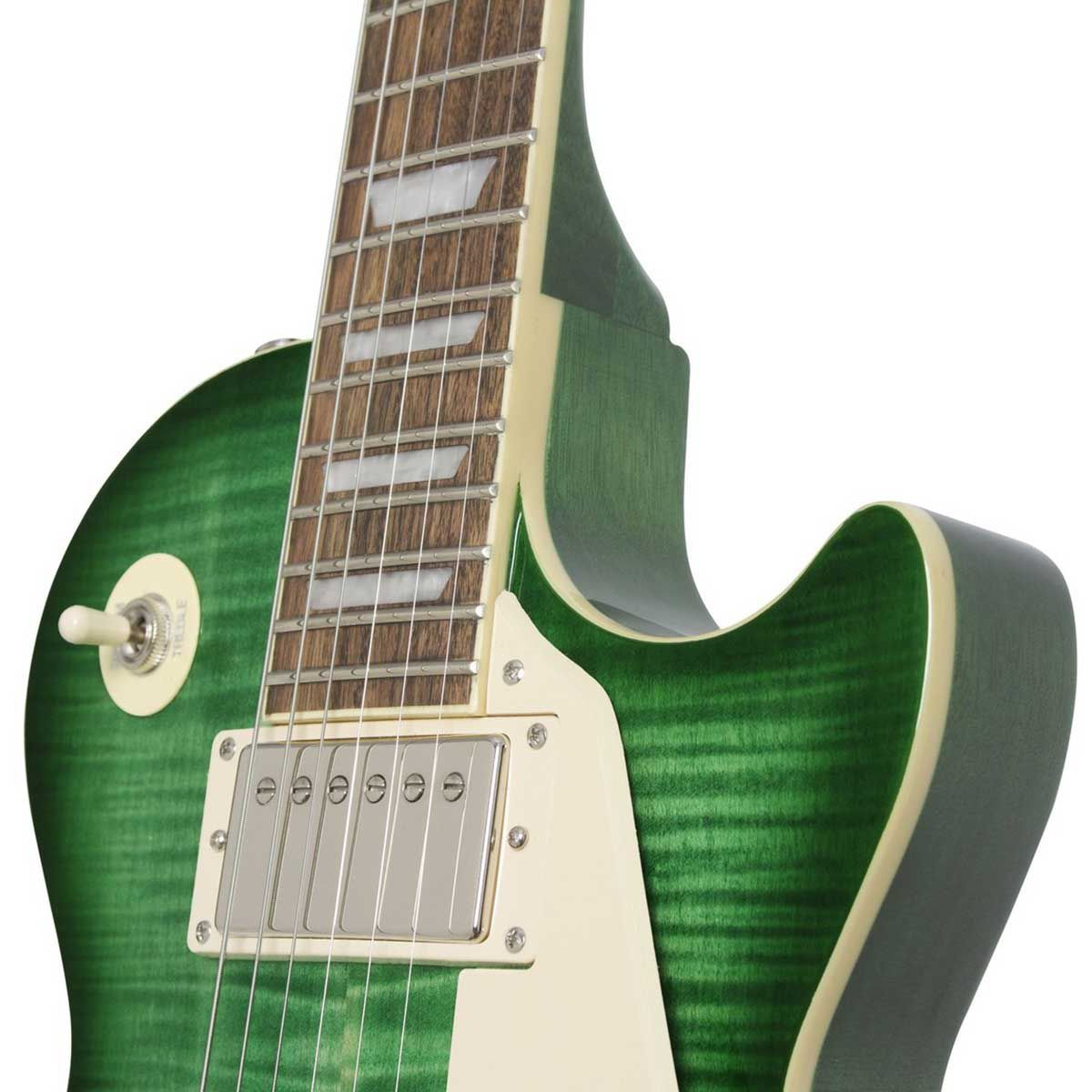 Guitarra Epiphone Les Paul Standard Plus Top Pro Green Burst