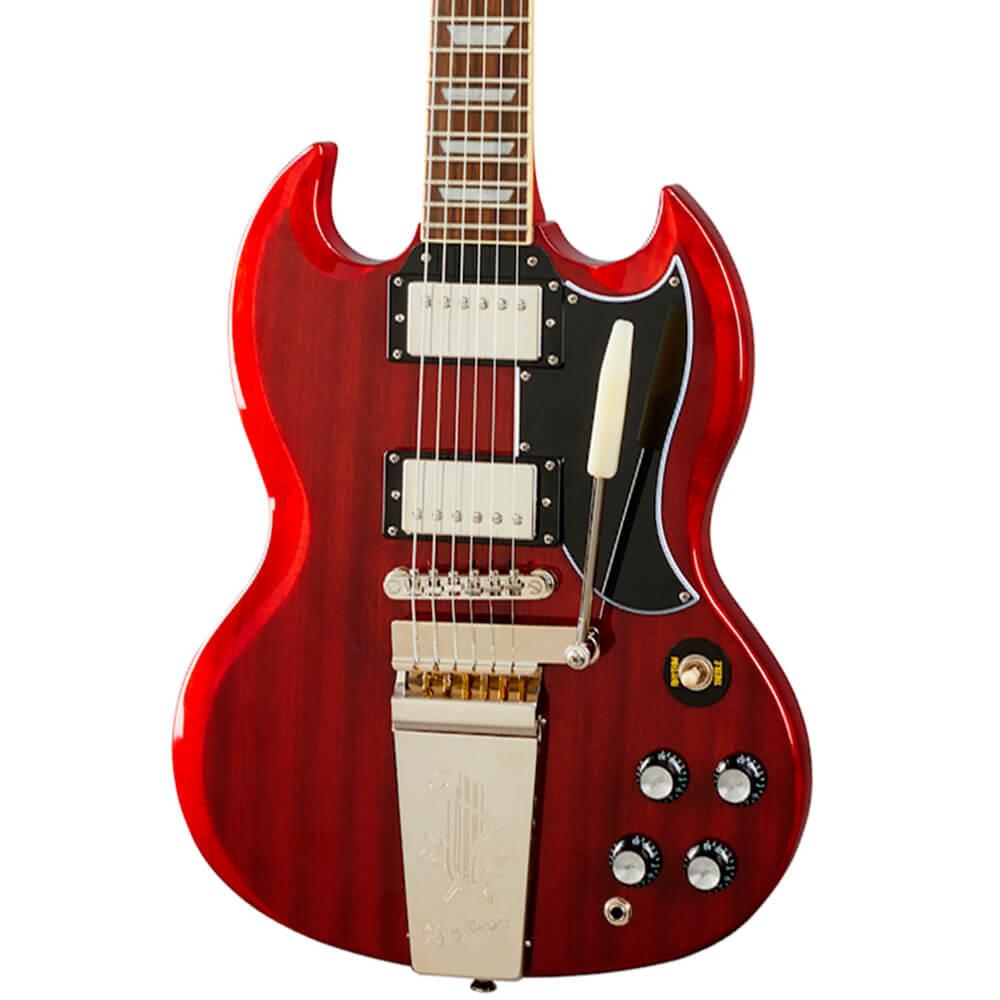 Guitarra Epiphone SG Standard 61 Maestro Vibrola Vintage Cherry
