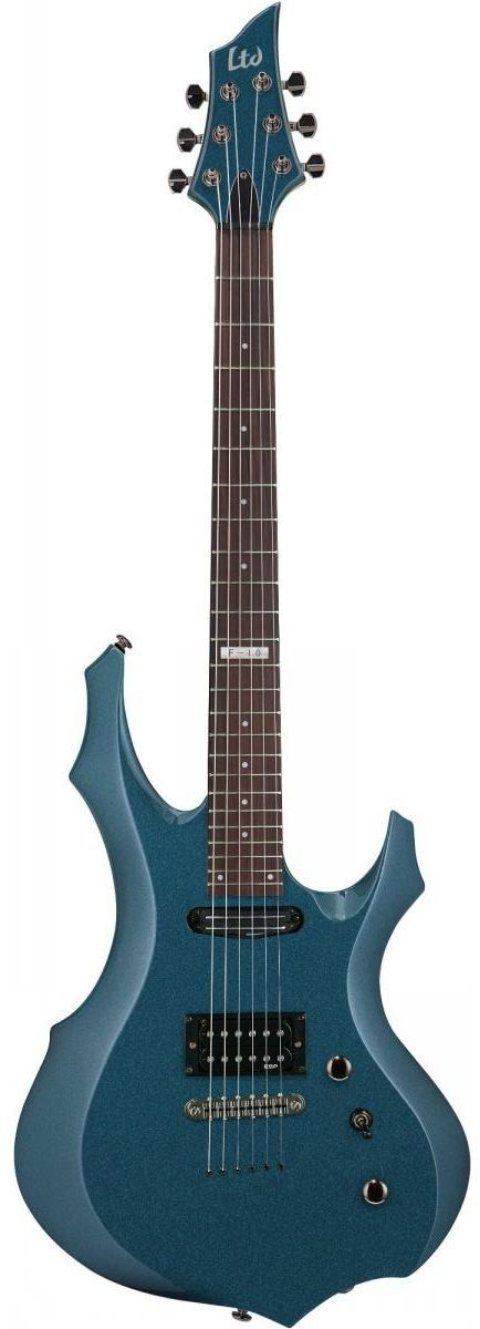 Guitarra ESP LTD F10 com Capa Gun Smoke Blue