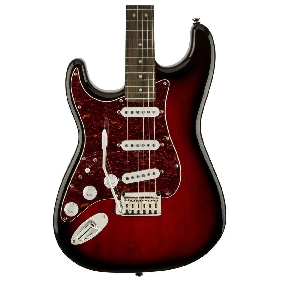 Guitarra Fender Squier Standard Strato Canhoto Antique Burst