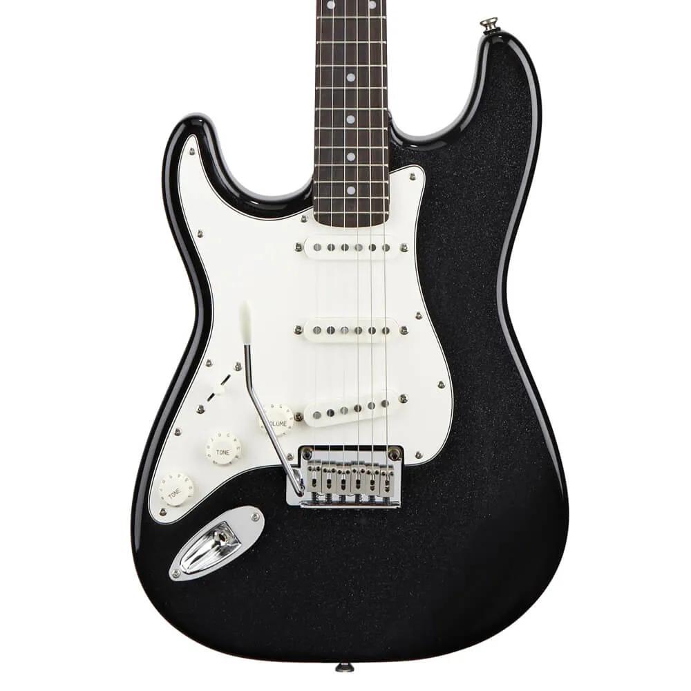 Guitarra Fender Squier Standard Stratocaster Canhoto Metallic Black