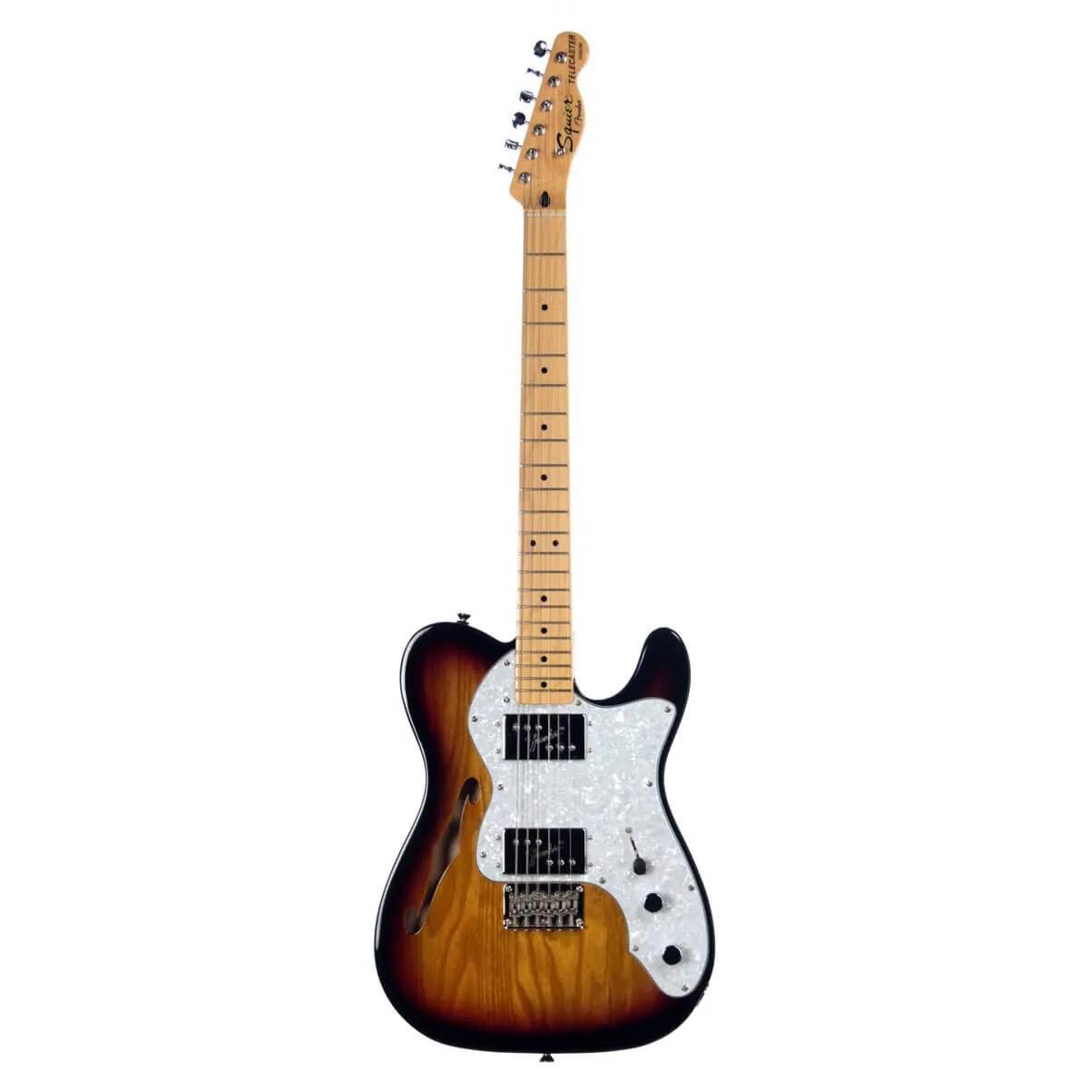 Guitarra Fender Squier Vintage Modified Telecaster Thinline 72 Sunburst