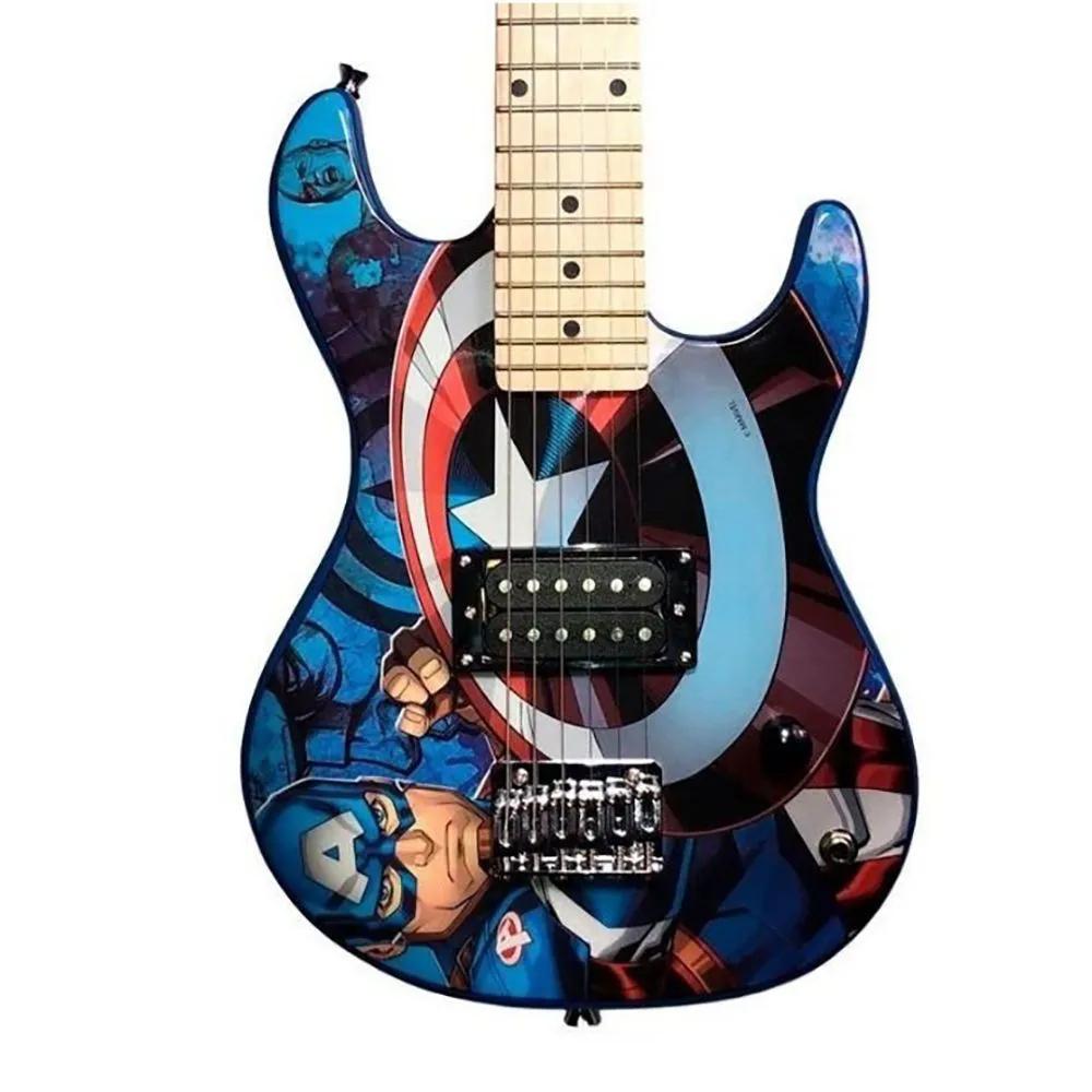 Guitarra Juvenil PHX GMC-K2 Marvel Série Capitão América