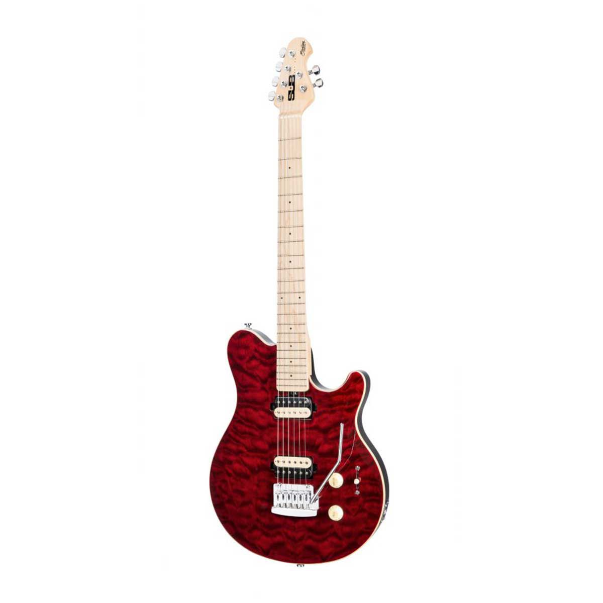 Guitarra Music Man Sterling SUB Axis AX3 Trans Red