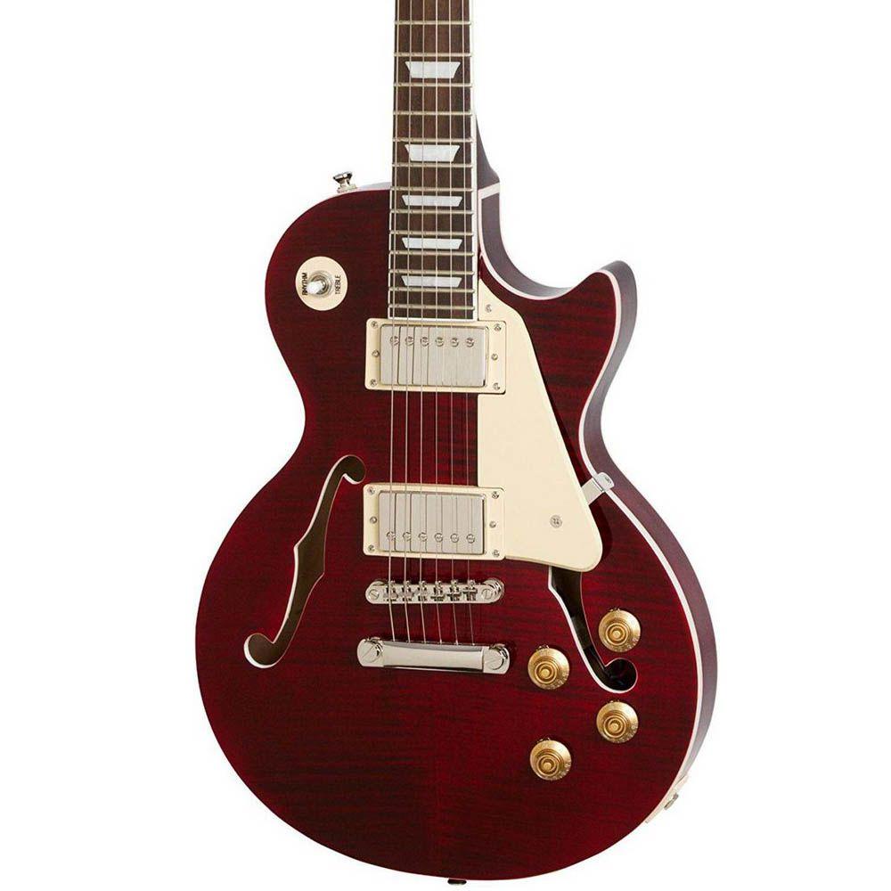 Guitarra Semi-Acústica Epiphone Les Paul ES Pro Wine Red