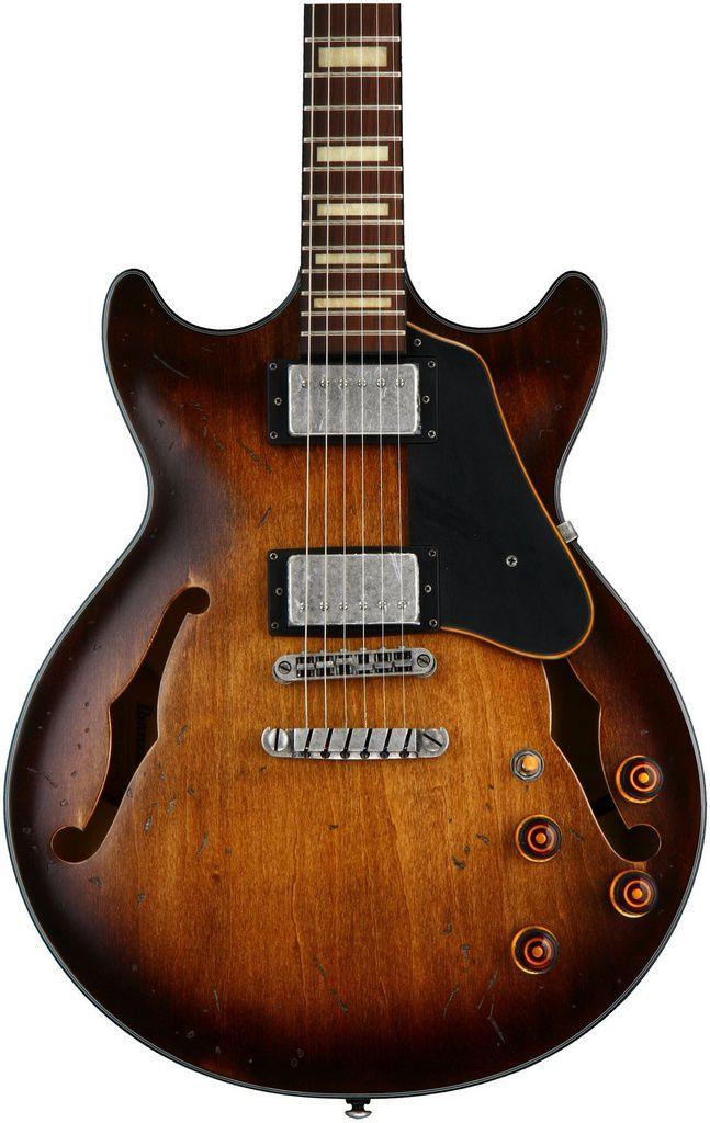 Guitarra Semi-Acústica Ibanez AMV10 A Tobacco Low Gloss