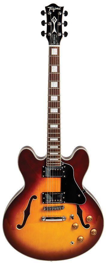 Guitarra Semi-Acústica Tagima Blues-3000 Honeyburst com Case