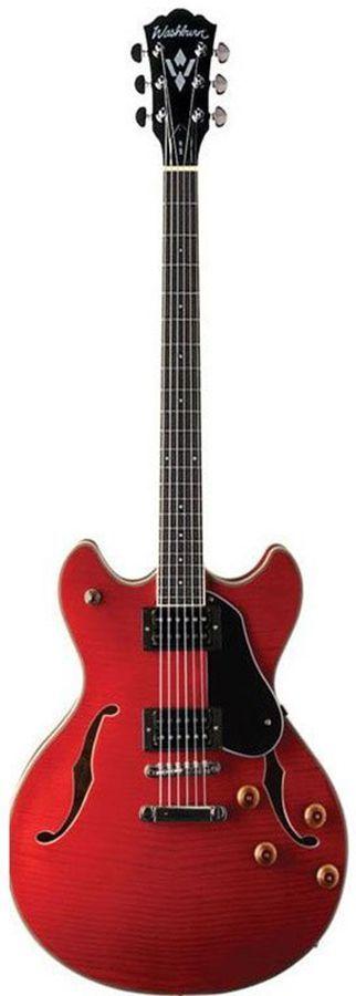 Guitarra Semi-Acústica Washburn HB30 Wine Red com Bag