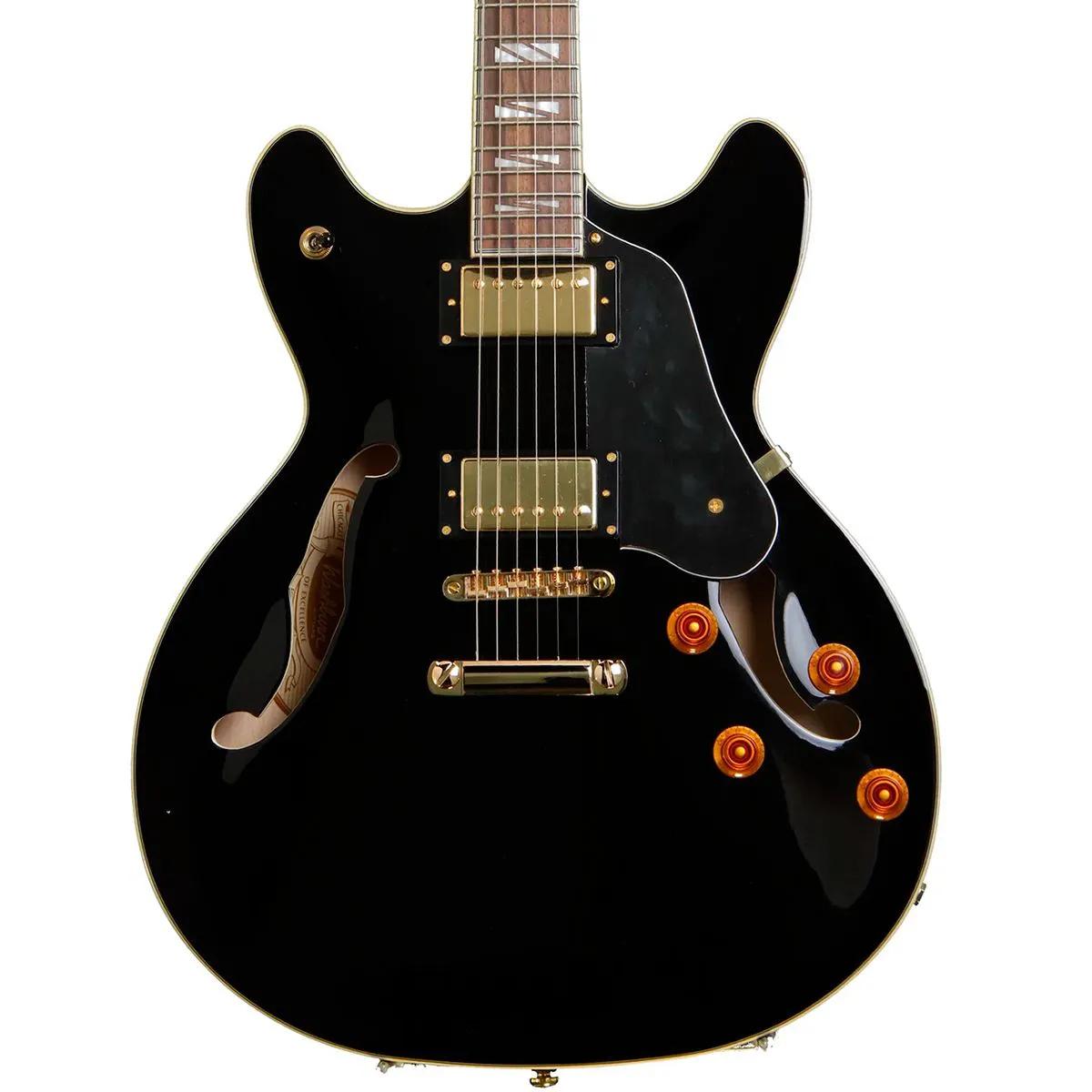 Guitarra Semi-Acústica Washburn HB35 Black