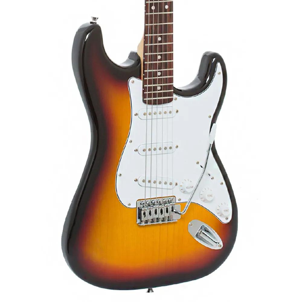 Guitarra Strato Giannini G-100 3TS Sunburst Escudo Branco