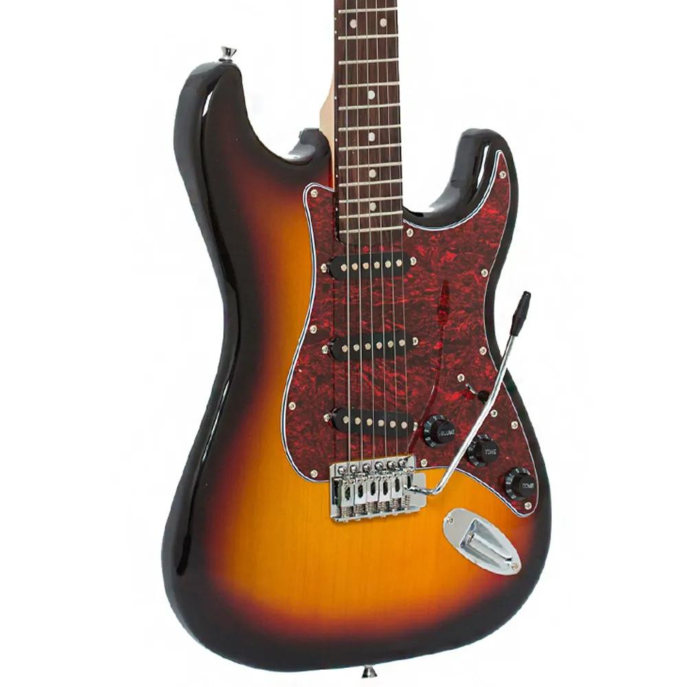 Guitarra Strato Giannini G-100 3TS Sunburst Escudo Tortoise