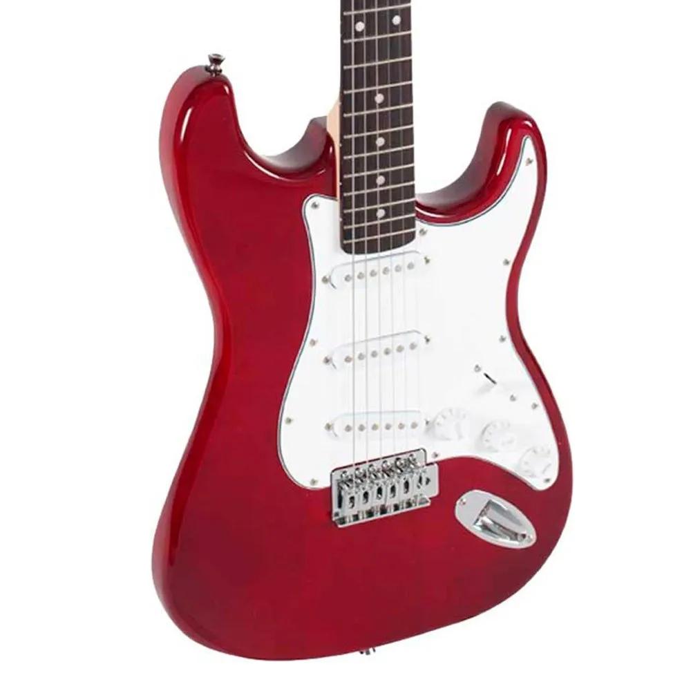 Guitarra Strato Giannini GGX-1S Vermelha com Escudo Branco