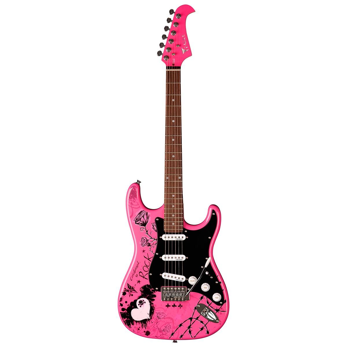 Guitarra Stratocaster Eagle EGP-10 CR Person Rosa