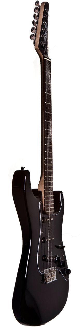 Guitarra Stratocaster Seizi Vision Black Escudo Preto