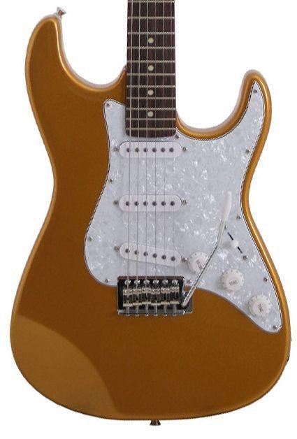 Guitarra Stratocaster Seizi Vision Gold Escudo Perolado