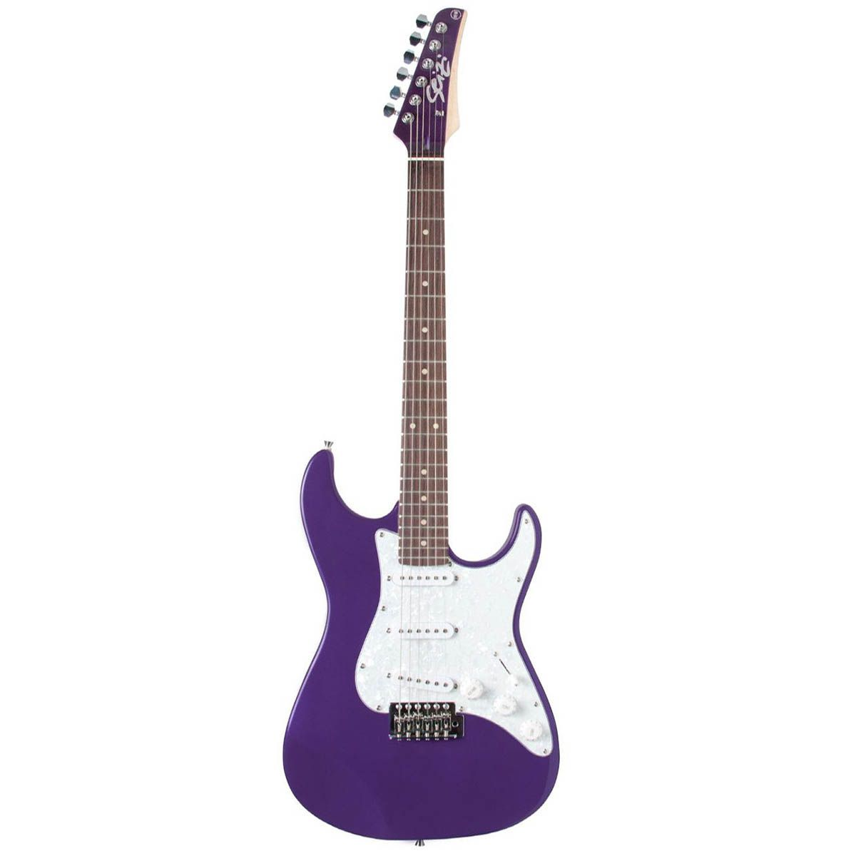 Guitarra Stratocaster Seizi Vision Purple Escudo Perolado