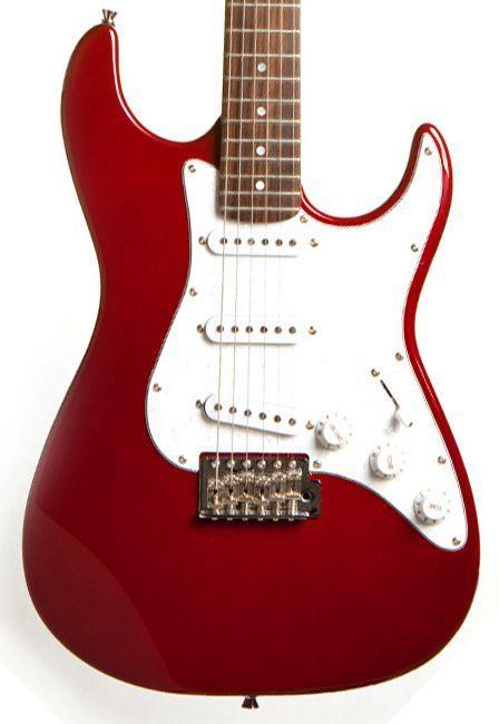 Guitarra Stratocaster Seizi Vision Red Escudo Perolado