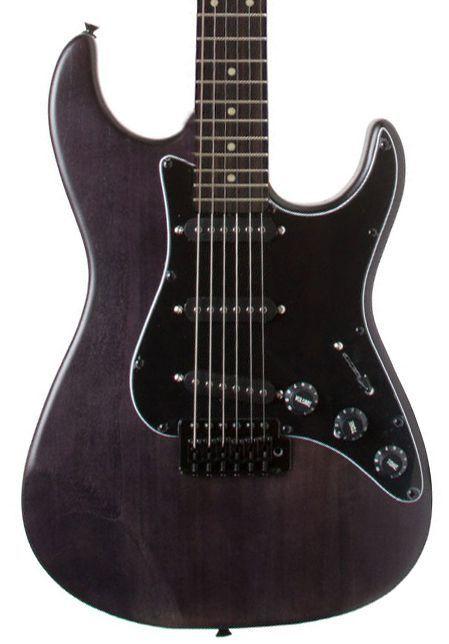 Guitarra Stratocaster Seizi Vision Satin Black Escudo Preto