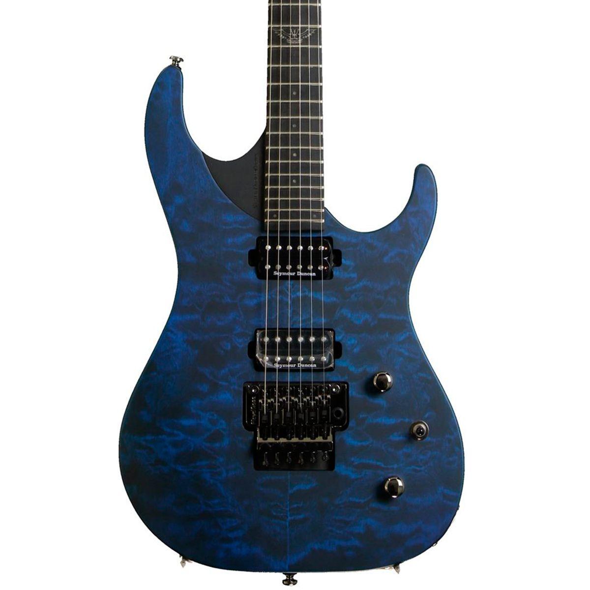 Guitarra Washburn Parallaxe PXM10 Flame Quilt Trans Blue Com bag