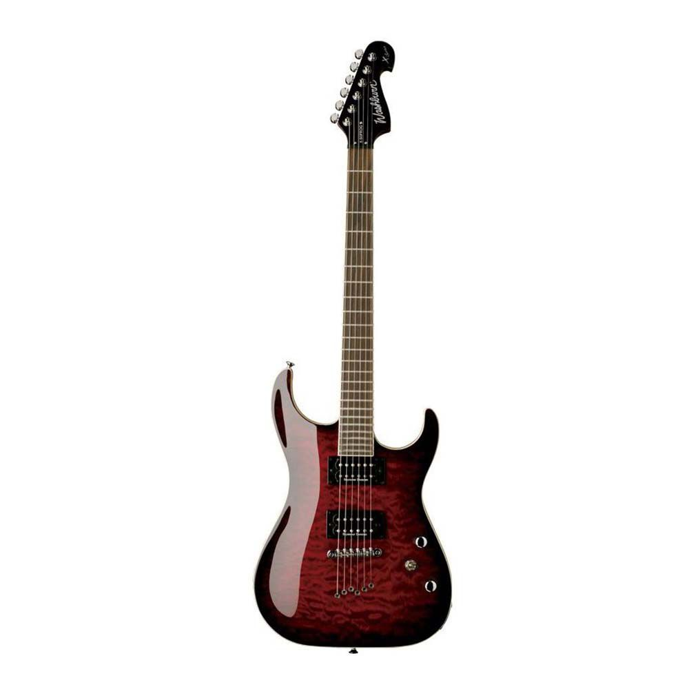 Guitarra Washburn X50 PRO Quilted X Series Wine Red com Bag