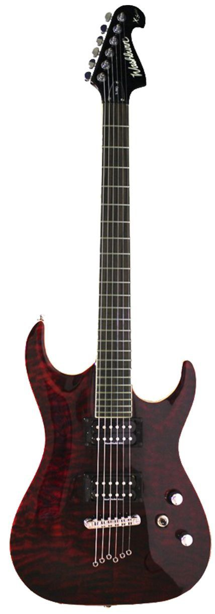 Guitarra Washburn X50 Quilted Maple X Series Wine Sunburst com Bag
