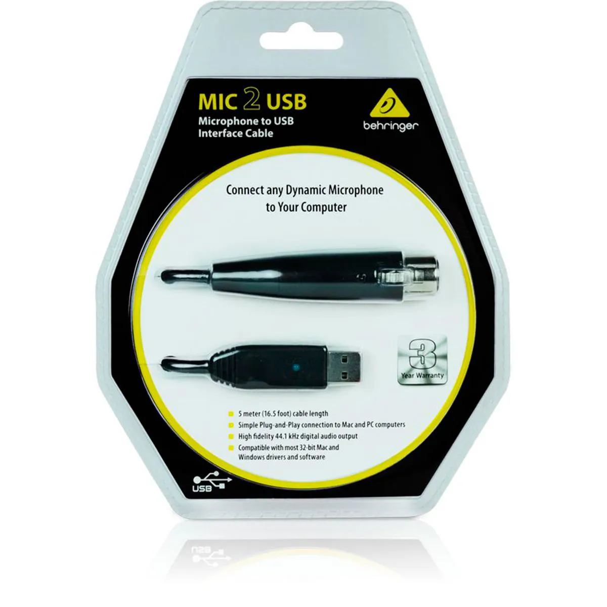 Interface Behringer MIC 2 Cabo USB XLR