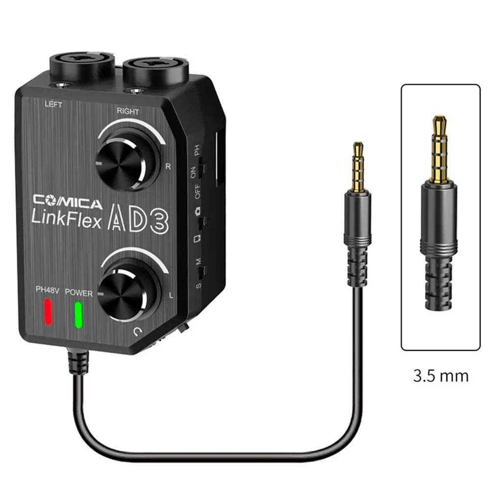 Interface Comica LinkFlex AD3 para Smartphone e Câmeras