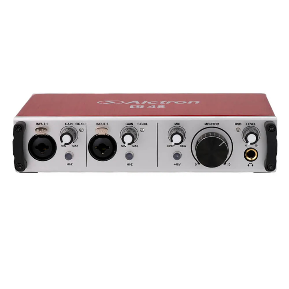 Interface de Áudio Alctron U48 2x2 192khz Vermelha USB