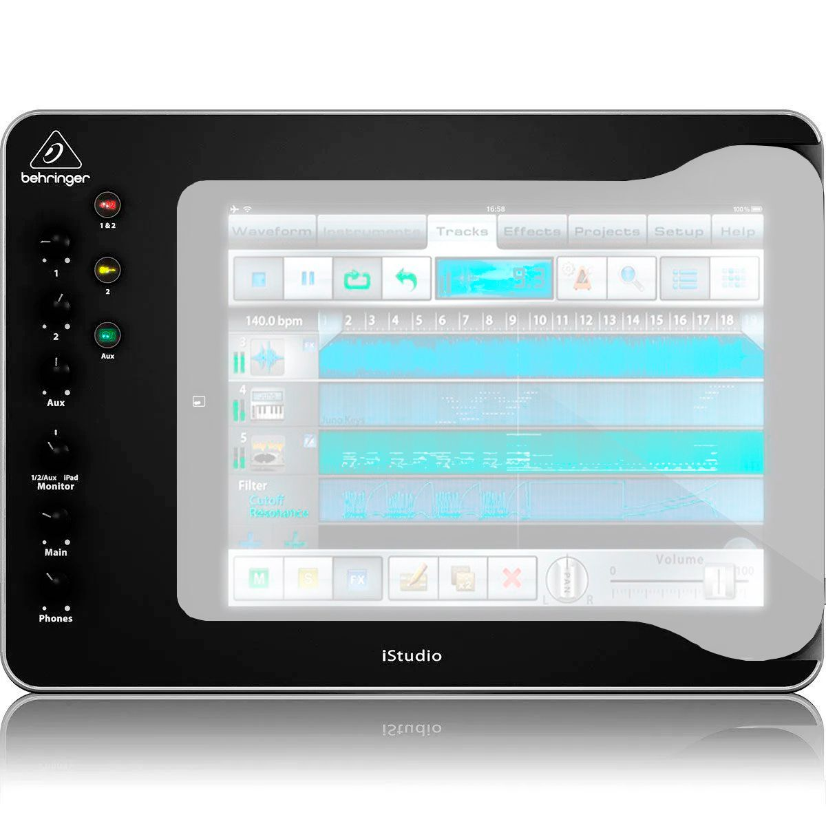 Interface de Áudio Behringer iStudio IS202 IOS / USB / MIDI
