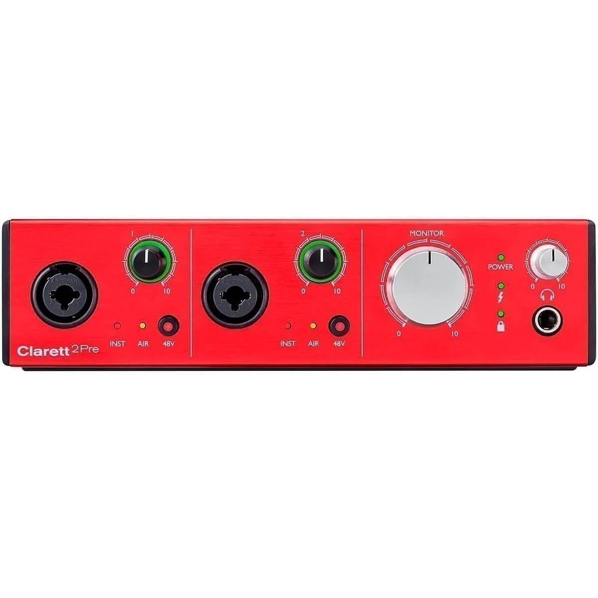 Interface de Áudio Focusrite Clarett 2Pre 10/4 Thunderbolt