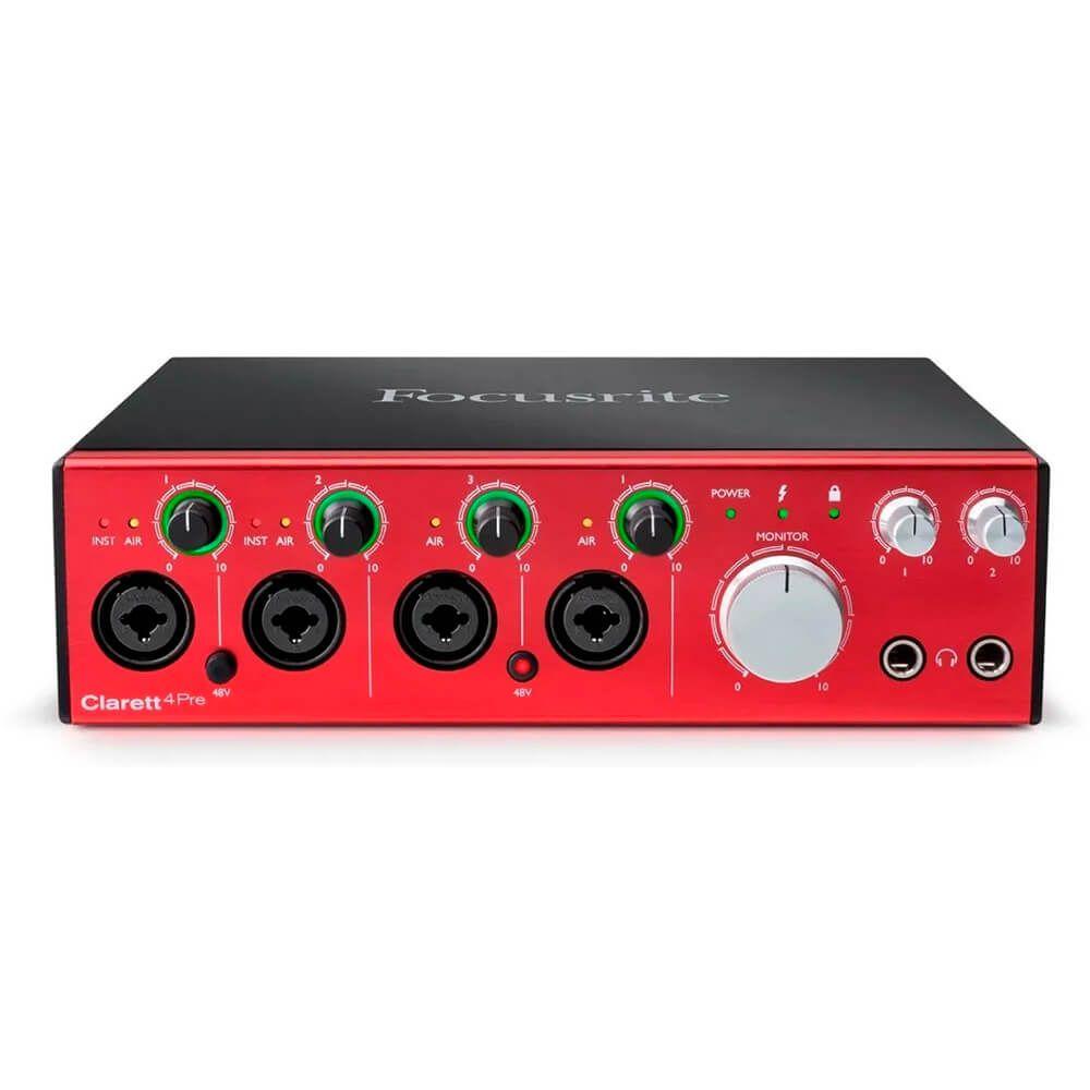 Interface de Áudio Focusrite Clarett 4Pre Thunderbolt 18/8