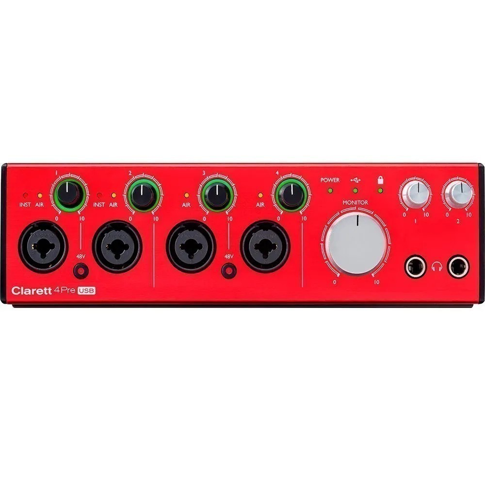 Interface de Áudio Focusrite Clarett 4Pre USB-C