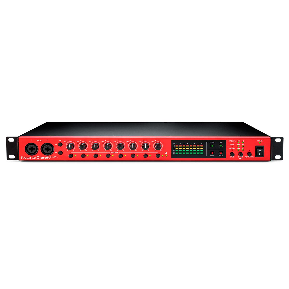 Interface de Áudio Focusrite Clarett 8Pre Thunderbolt