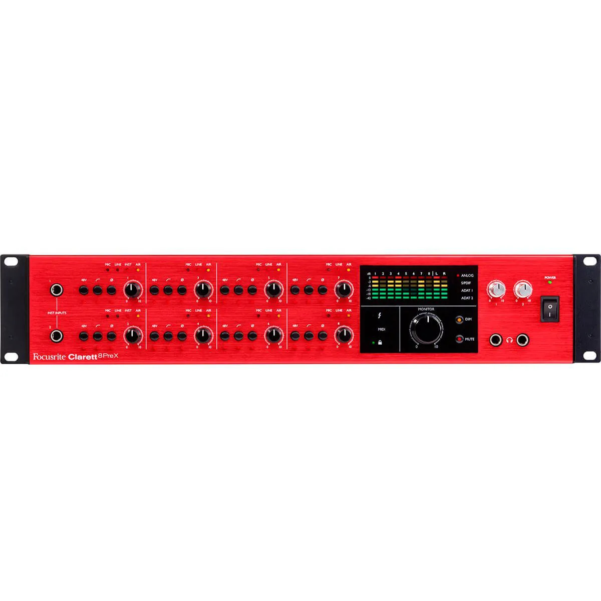 Interface de Áudio Focusrite Clarett 8PreX 26/28 Thunderbolt