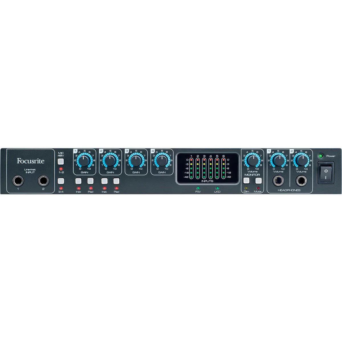 Interface de Áudio Focusrite Saffire Pro 26 Thunderbolt