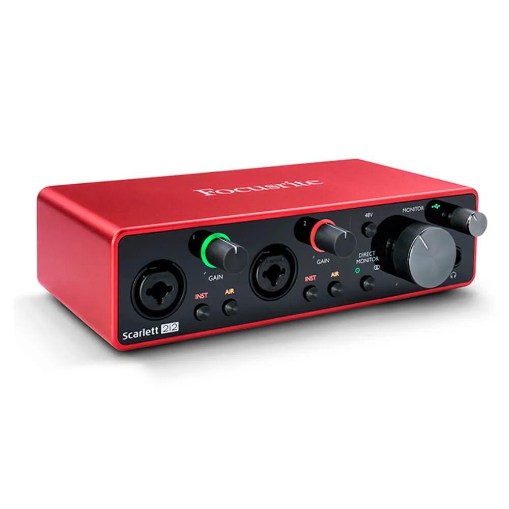 Interface de Áudio Focusrite Scarlett 2i2 USB 3rd Geração