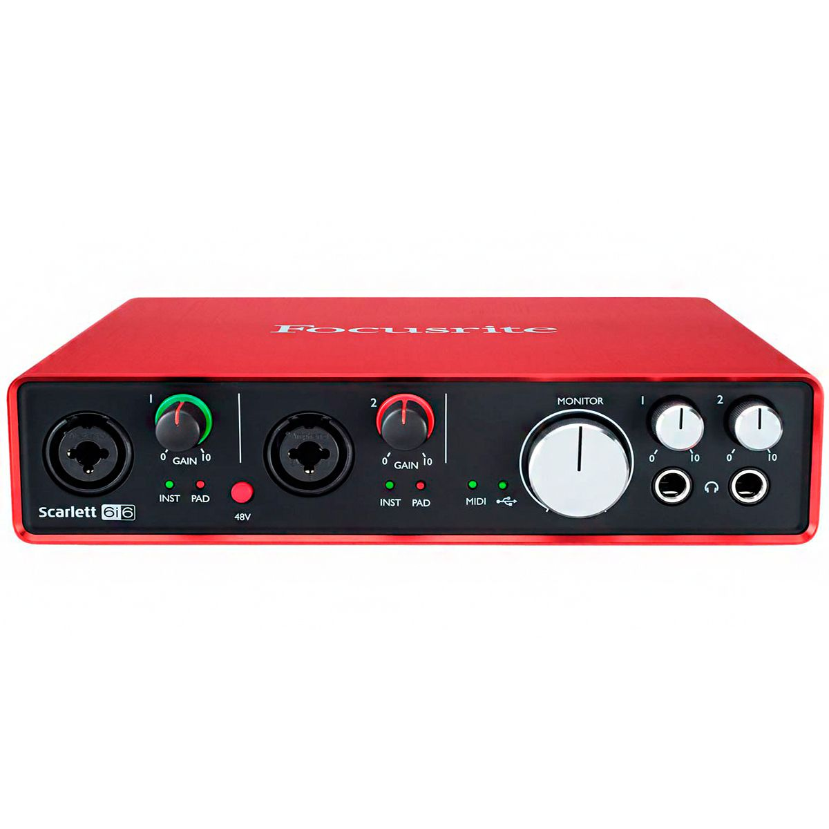 Interface de Áudio Focusrite Scarlett 6i6 USB 2nd Geração
